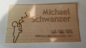 Laser Cutting Business Cards